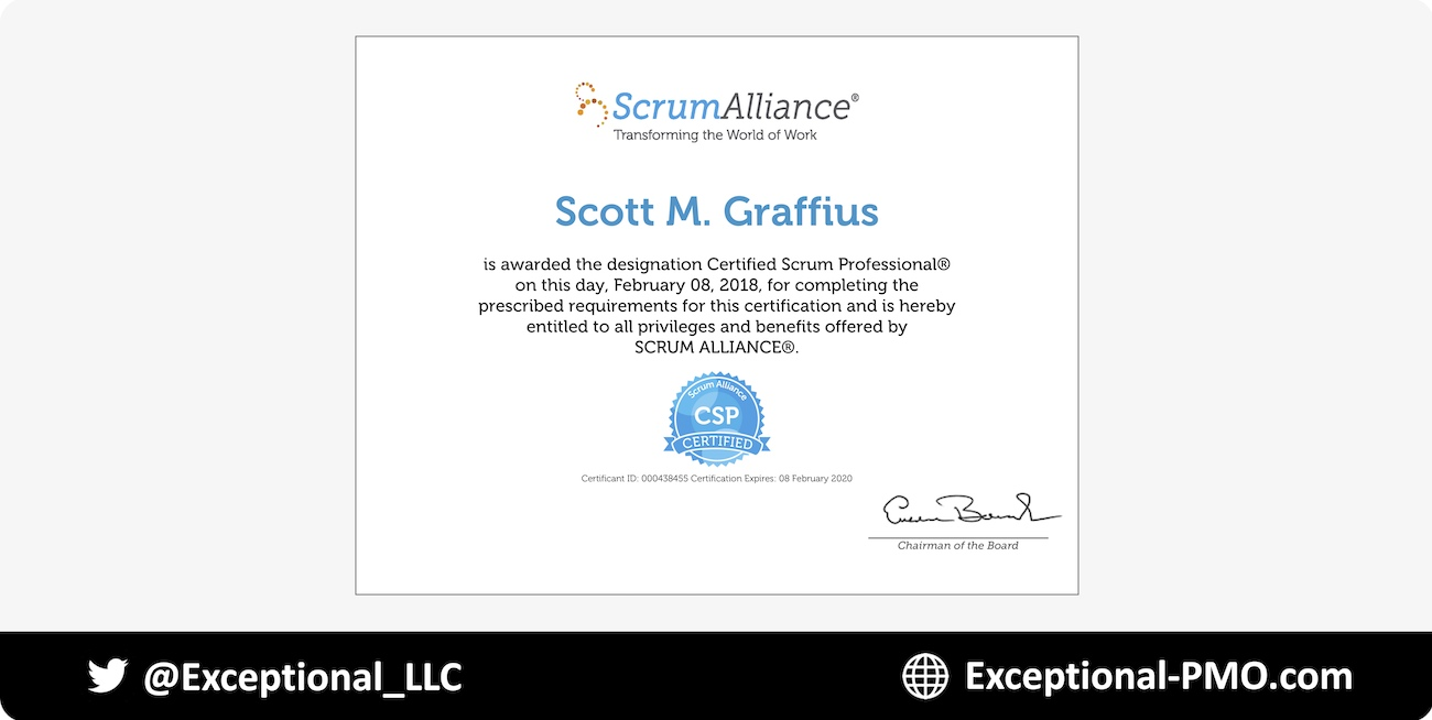 Certified Scrum Professional Csp Advanced Designation